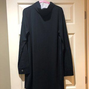 COS Navy  Dress with Key Hole and Tie at Back